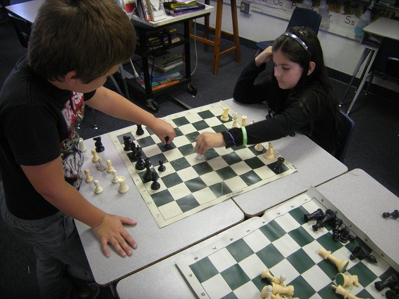 Participants in the annual All-District Chess Tournament.