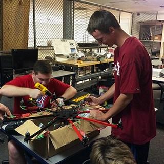 PVIT students at work on robotics