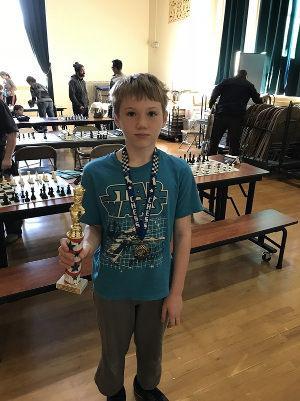 Gus (Grade 5) earns 1st Place in local Chess competition Thumbnail Image