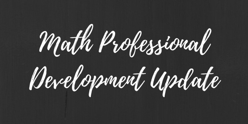 Math Professional Development Update Thumbnail Image