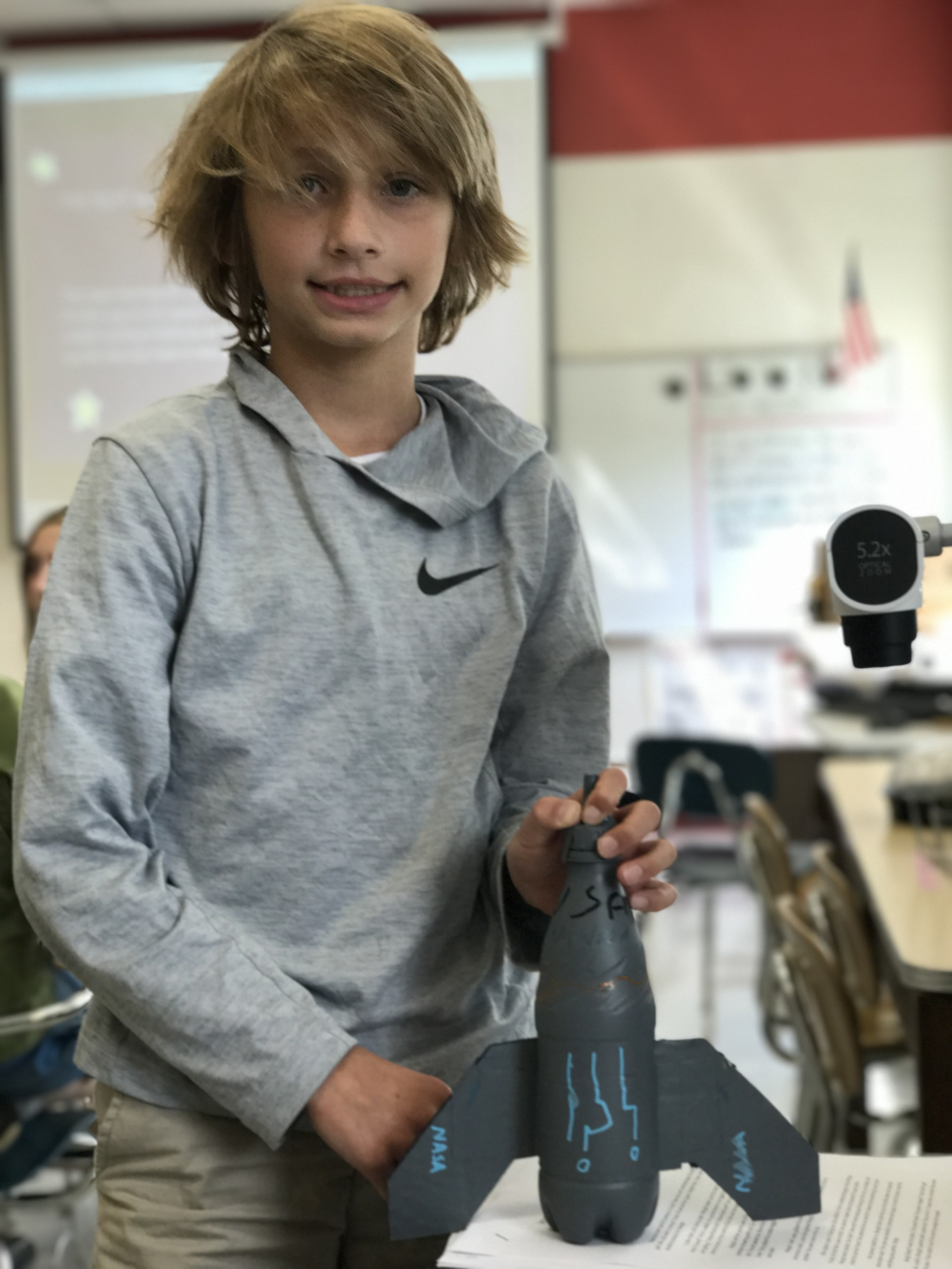 Carson created a rocket that took Margot into space