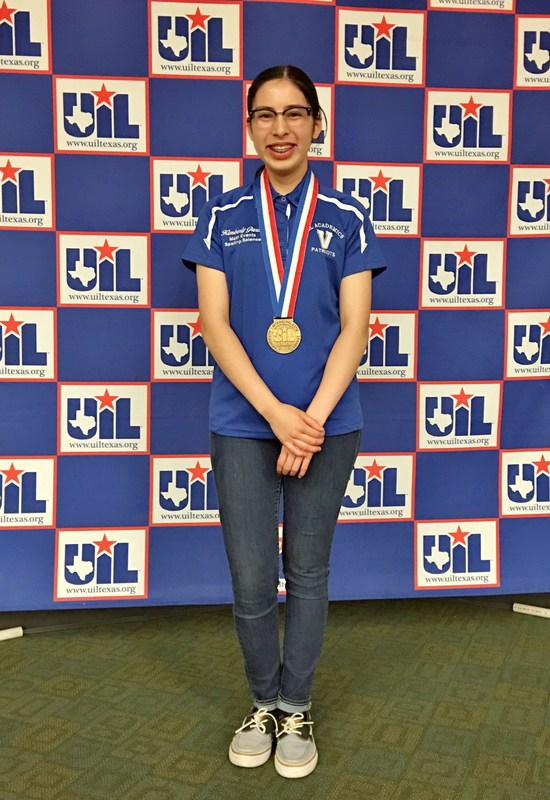Kimberly Garza with UIL state medals.