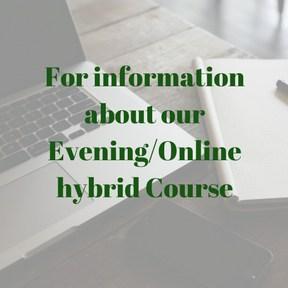 evening/hybrid course