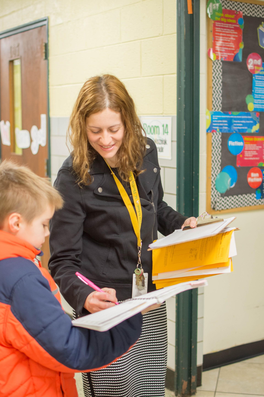 Miss Wozniak checks in with 4th grader
