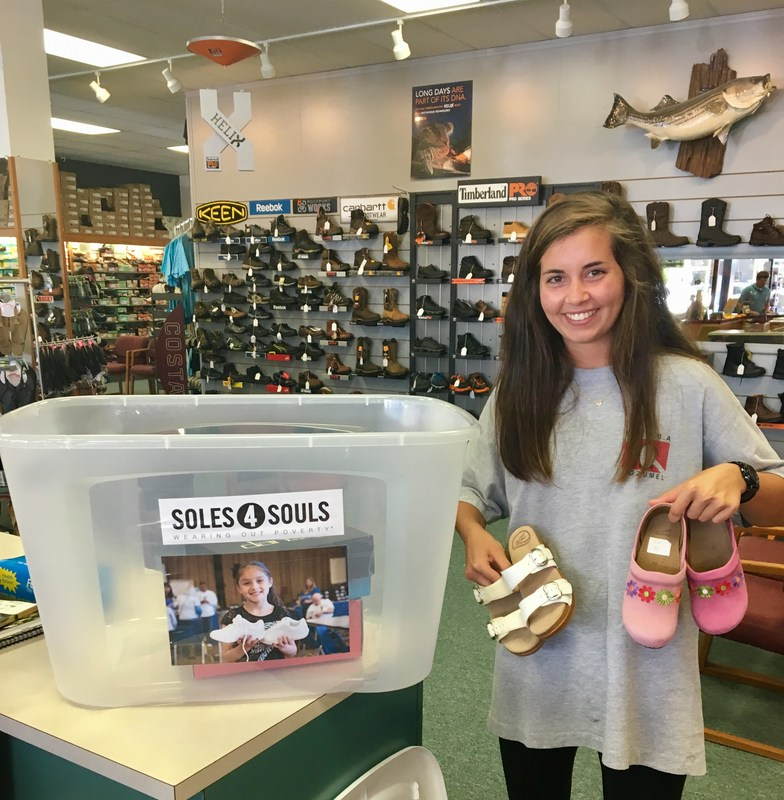 Senior Shelley Anderson and Soles4Souls picture
