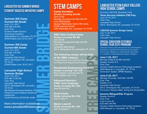 Summer programs brochure inside