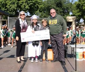 Principal Janice Jones, Christina Muoio, and Principal Mark Delano.