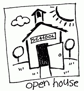school house labeled open house