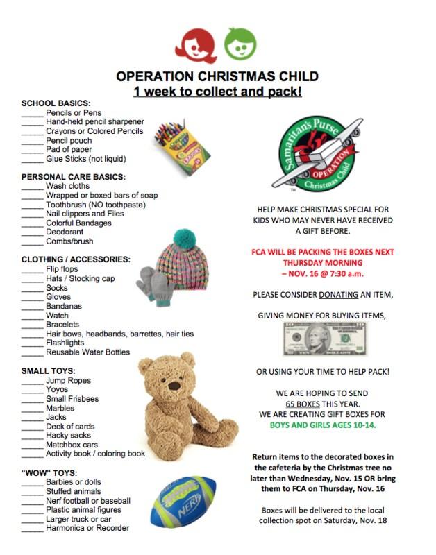 Operation Christmas Child Boxes Thumbnail Image