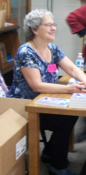 Joyce Moyer Hostetter at book signing.