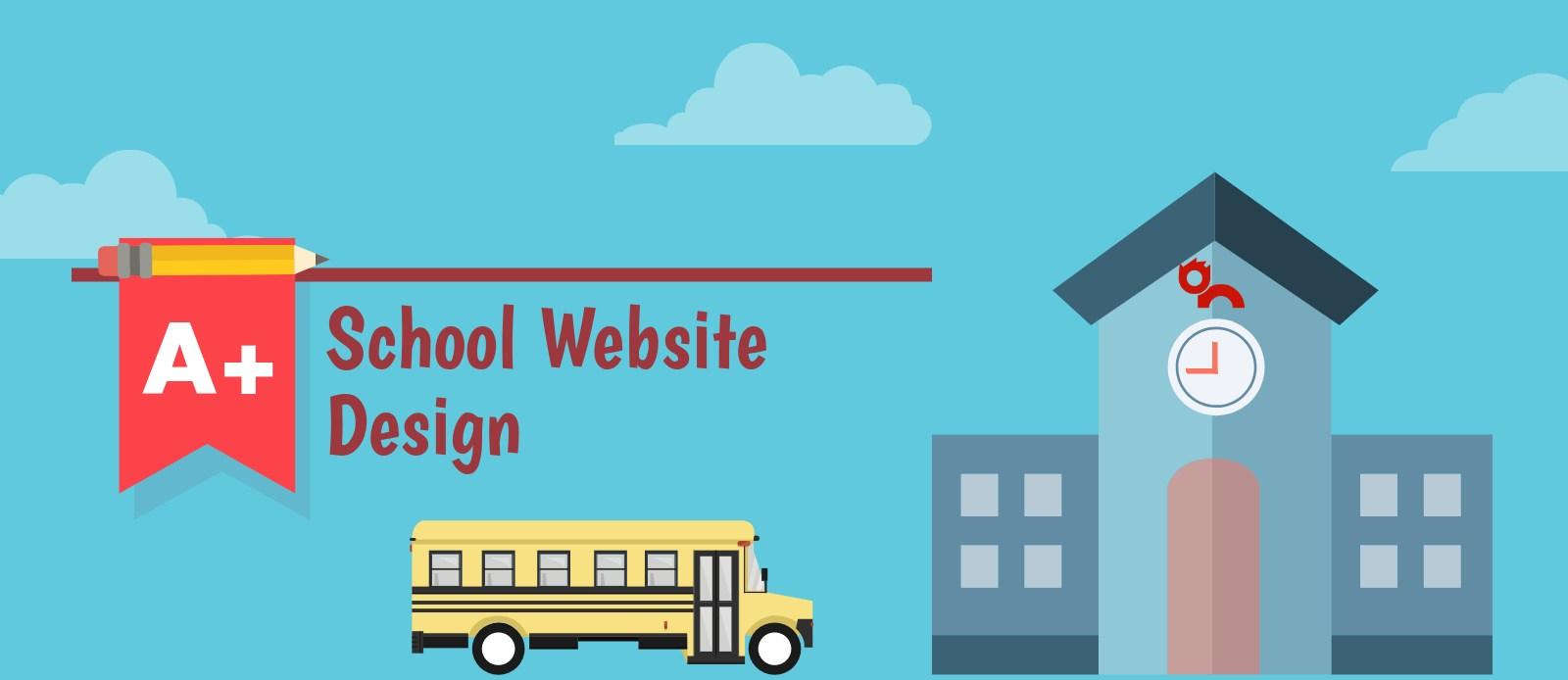 school and bus school website design