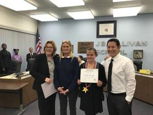 Mia S. receives award