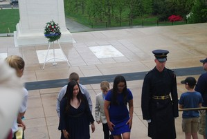 Wreath laying at Tomb of the Unknown Soldier