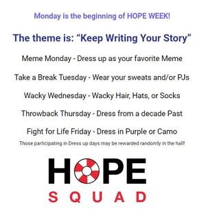 Hope Week Flyer