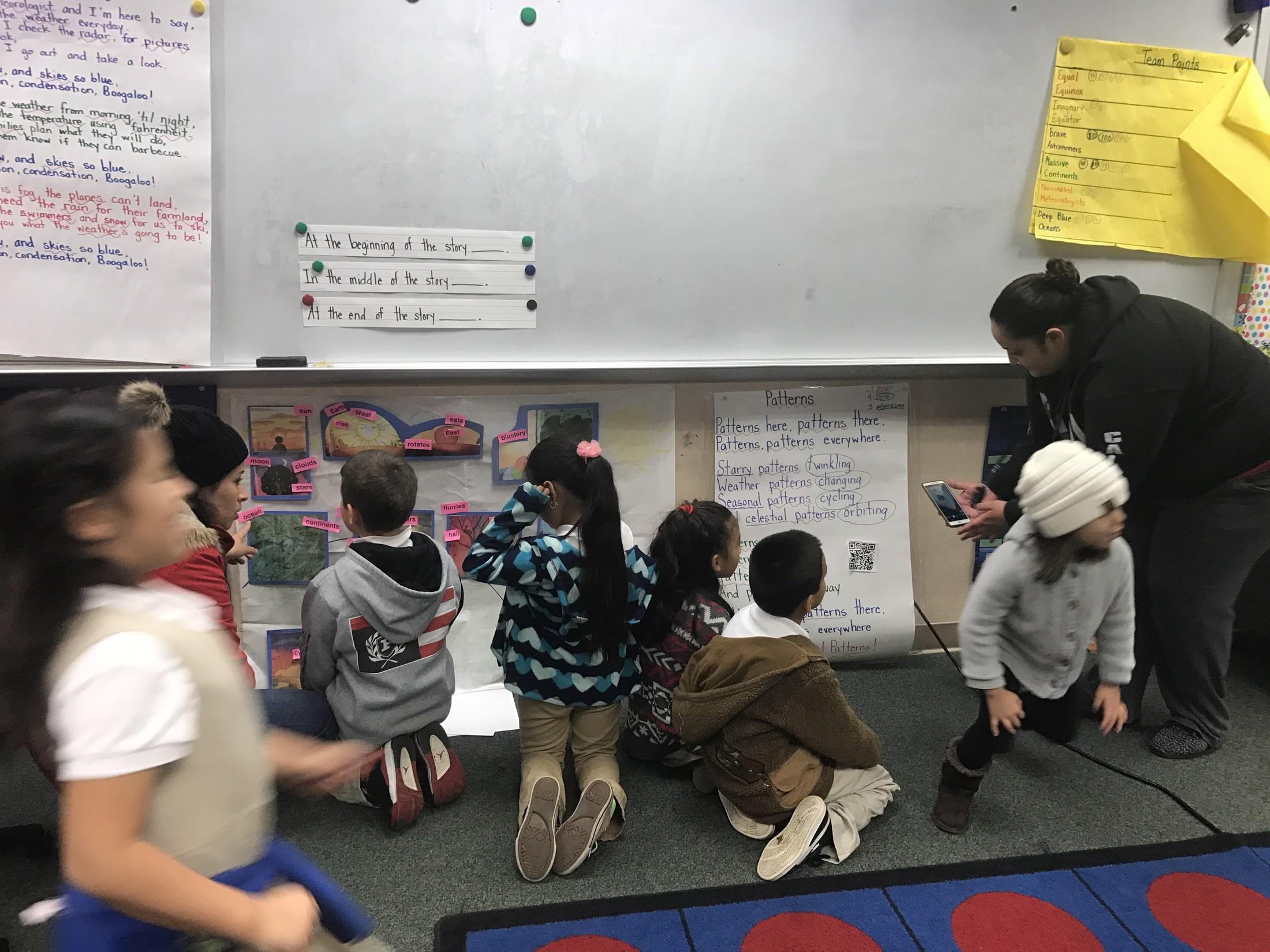 Students looking at narrative.