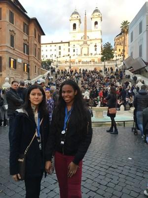 Nakiya and Gladys Exploring Rome - Spanish Steps.JPG