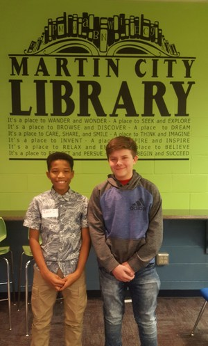 1st and 2nd place Spelling Bee winners