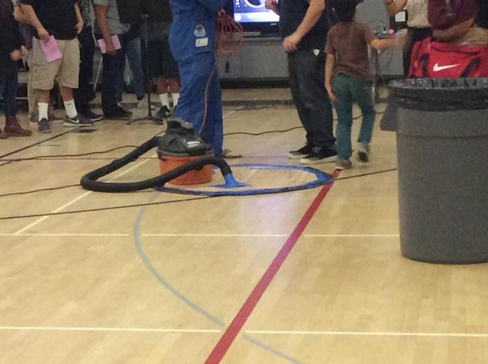 Demonstration of suction at Science Night - Valley Academy of Arts and Sciences