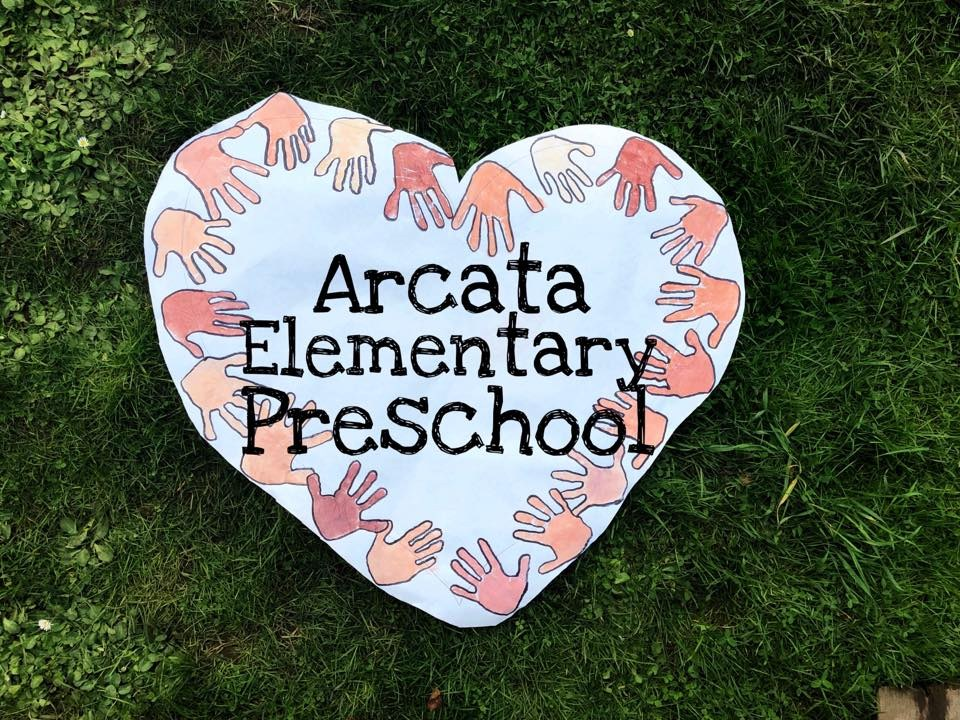 sign saying arcata elementary preschool