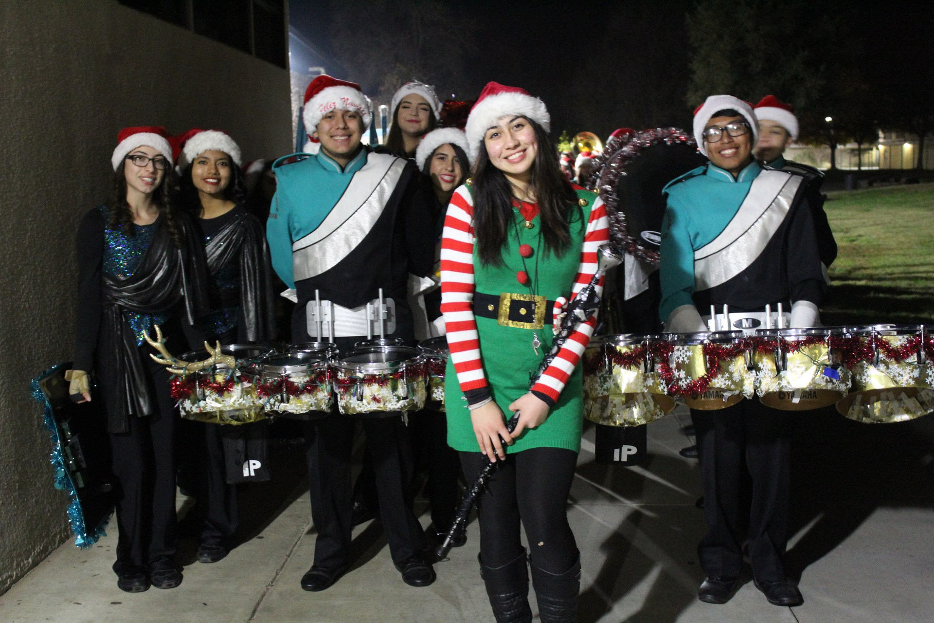 Band Students at the Winter Parade