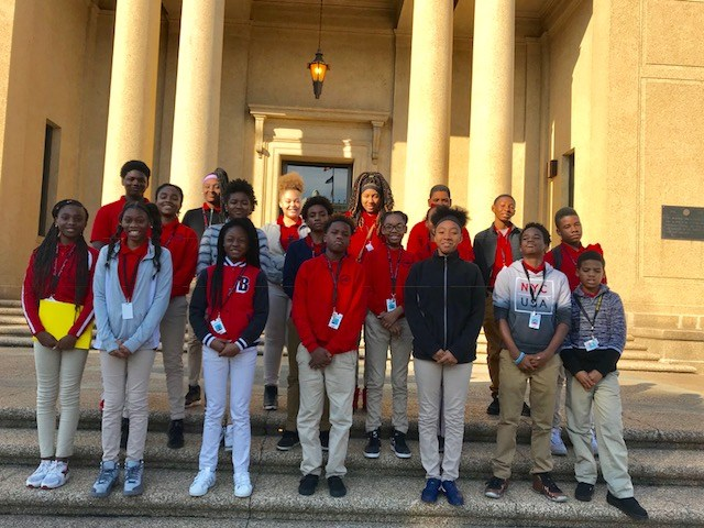 Photo of the Baker Middle School JAG Students on field trip at Louisiana State University