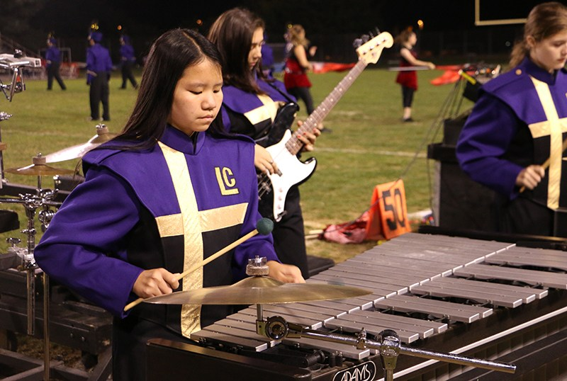 Band Student Playing the Xylophone