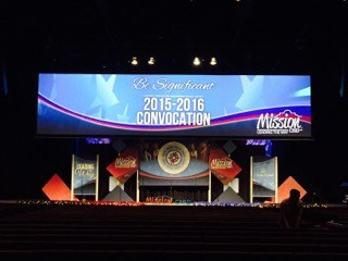 Stage set up for convocation