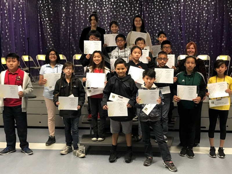 Magnolia students participate in spelling bee