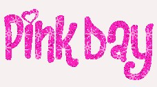 Pink Day is sparkly pink text