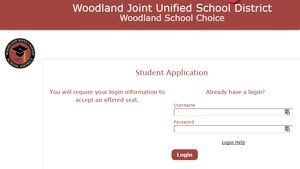 Screen shot of enrollment website