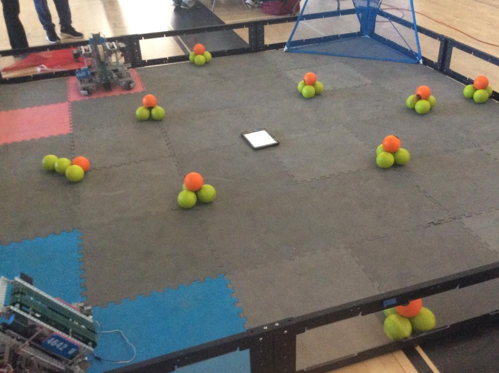Vex field at STEAM Expo - Valley Academy of Arts and Sciences
