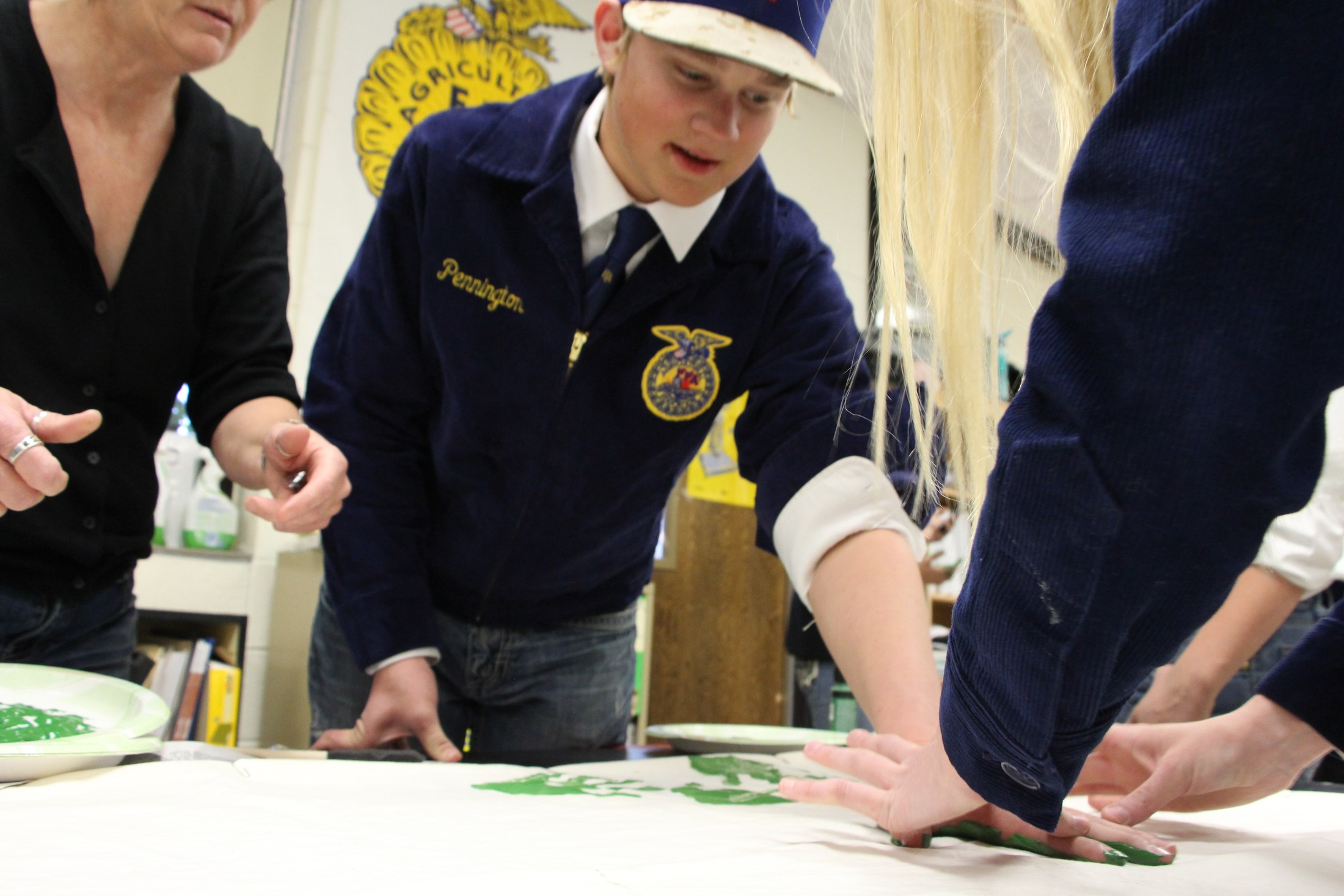FFA Students at Greenhands ceremony.