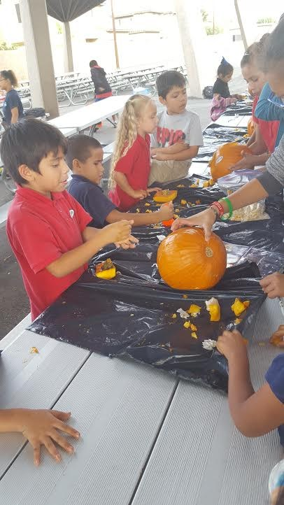 Pumpkin carving in the ASES Program