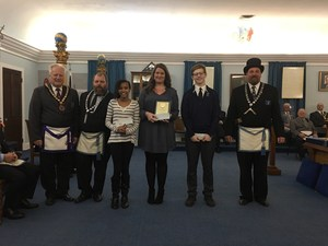 Amanda Unkle receiving award from Lodge 65.jpg