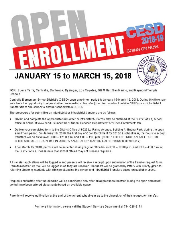 Open Enrollment Flyer