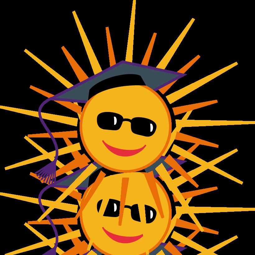 Vector Graphic: Sunburst Smiley