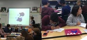 Students explore protons and neutrons with Ms. Robb!