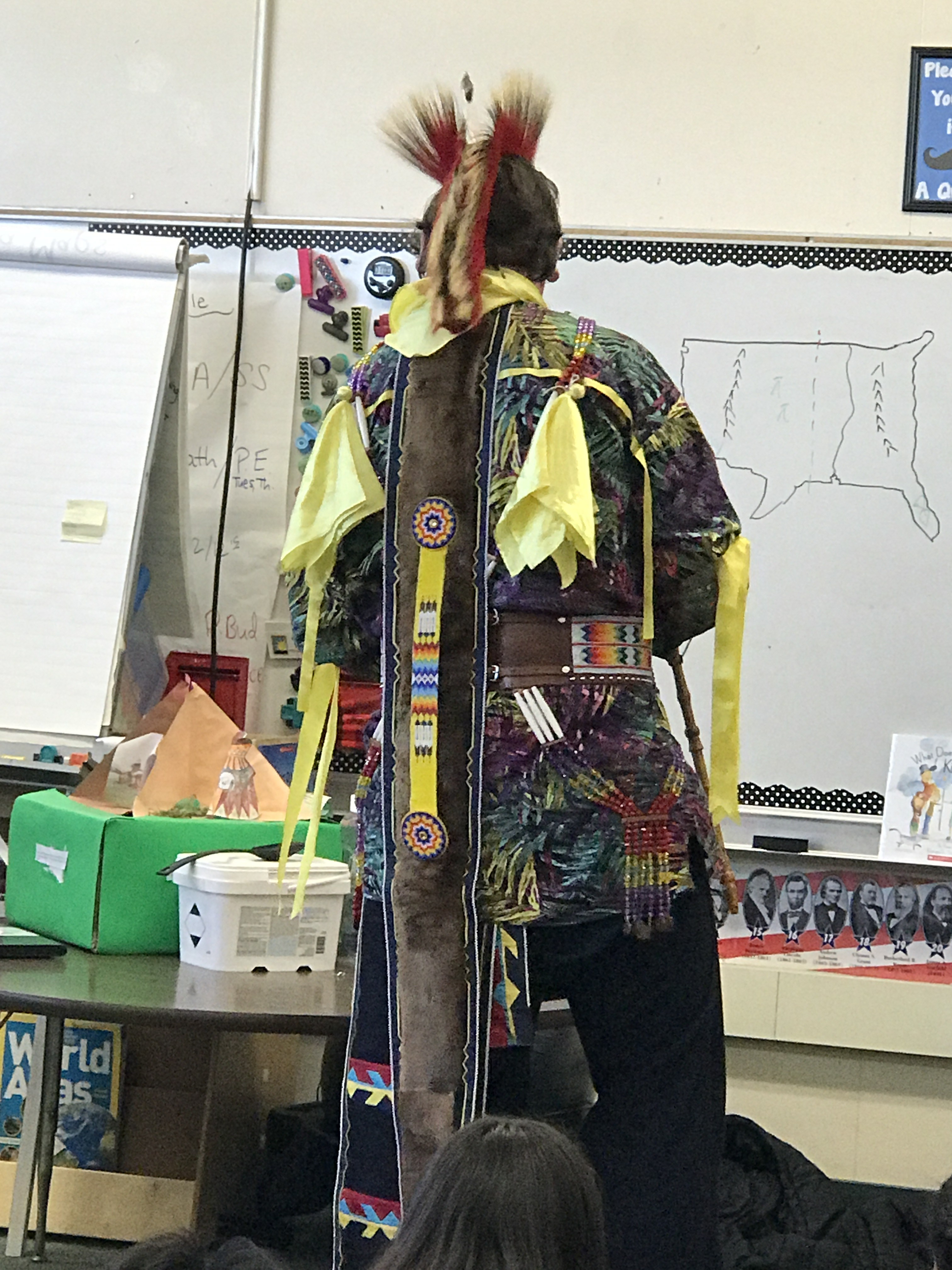 A Native American 'tuxedo'