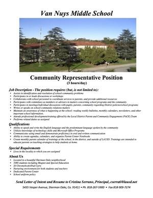 Vacancy Position Van Nuys Middle School Community Rep.jpg