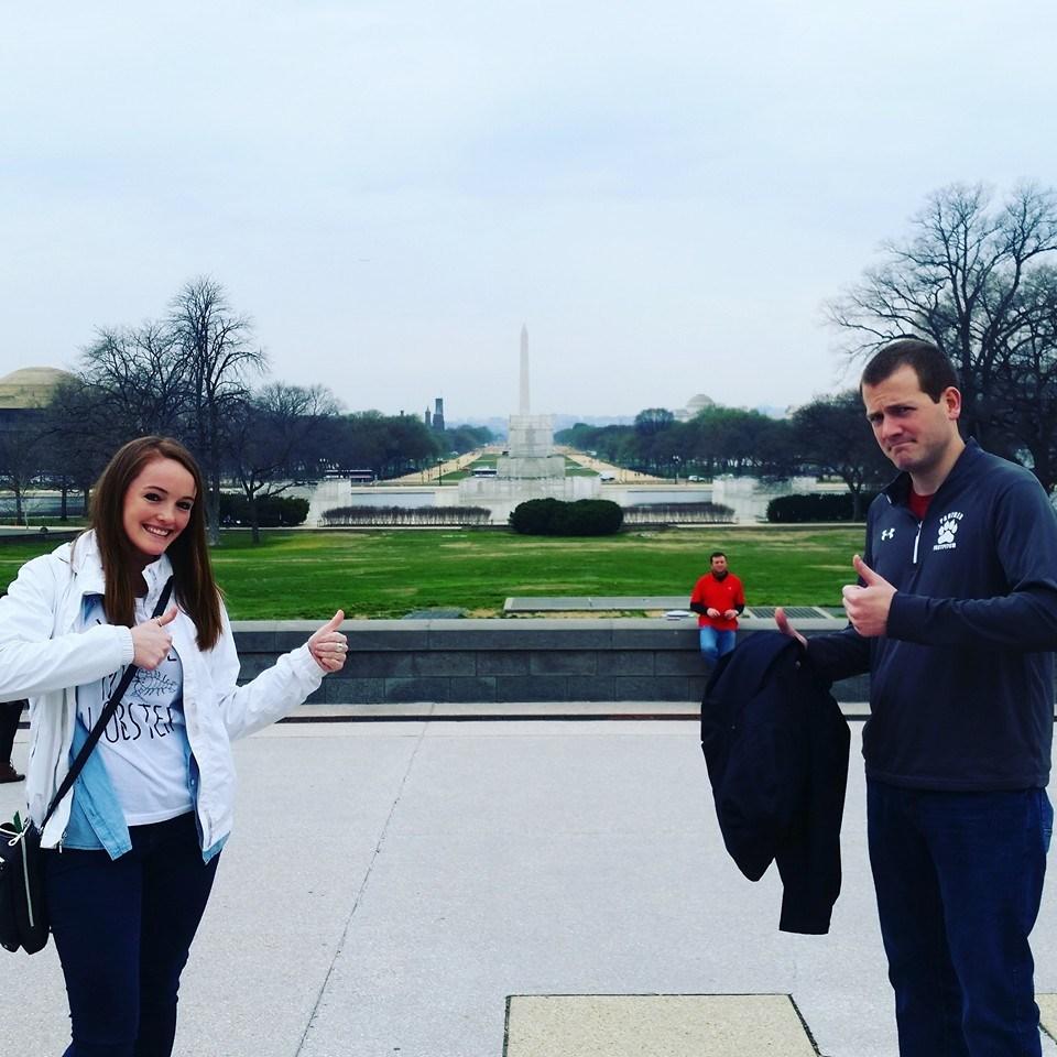 Mr. Hupfeld and I taking kids to Washington D.C.