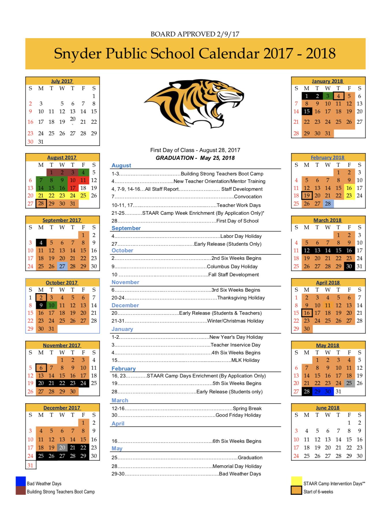 ... 17-18 Board Approved School Calendar ...