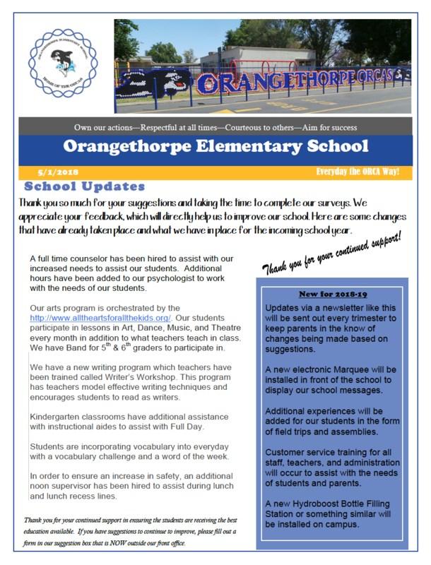 Orangethorpe Newletter Featured Photo