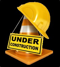 Under Construction Cone and Hard Hat