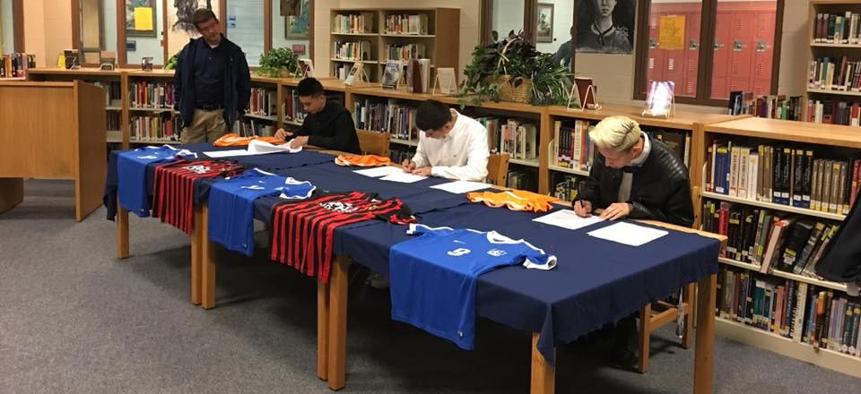 3 students sign letter of intent to play soccer at TVCC