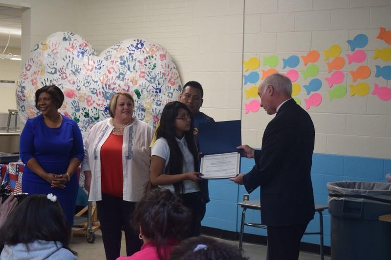 Congressman Joe Courtney Presents Award to Yeraldine Rodriguez at North Windham School Thumbnail Image