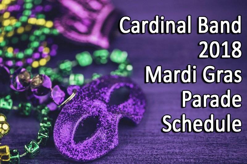 Band Mardi Gras Parade Schedule Thumbnail Image