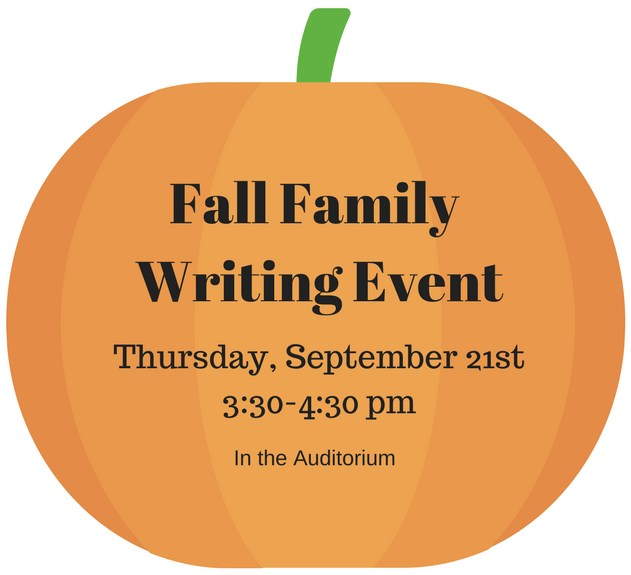 family writing event