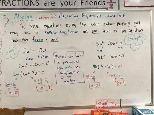 Factoring and Solving polynomials using GCF