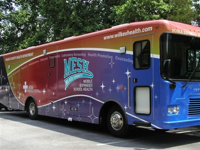 Mobile Expanded School Health (MESH) Unit Provides Free Mental Health Services for Middle School Students as Part of the Wilkes County Health Department Thumbnail Image