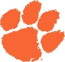 orange paw print